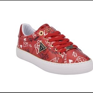 Guess red Graffiti shoes sneakers 9